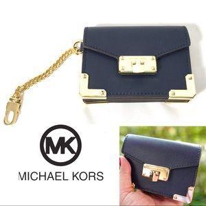 MICHAEL KORS KINSLEY ACCORDION KEY CARD WALLET NWT